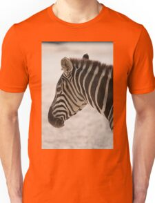 zebra at the zoo Unisex T-Shirt