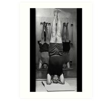 Five Minute Yoga Headstand   Art Print