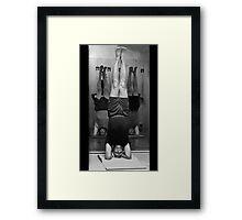 Five Minute Yoga Headstand   Framed Print