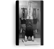 Five Minute Yoga Headstand   Metal Print