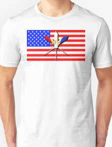Flag and Fireworks T-Shirt