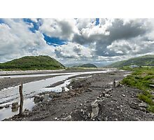 A River under Clouds Photographic Print