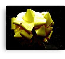 Yellow ribbon Canvas Print