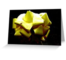 Yellow ribbon Greeting Card