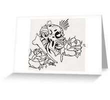 tattoo of the dead Greeting Card