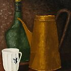 Still life with ancient teapot by Solotry