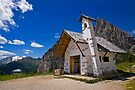 Church at Passo Falzarego by Krys Bailey