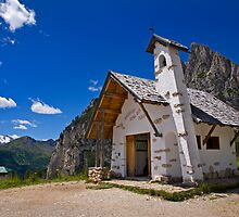Church at Passo Falzarego by Krys Bailey