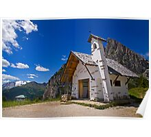 Church at Passo Falzarego Poster
