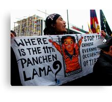 Where is the Panchen Lama Canvas Print