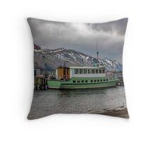 Tourist Boat at Glennridding Throw Pillow