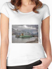 Tourist Boat at Glennridding Women's Fitted Scoop T-Shirt