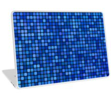 Blue pixel mosaic Laptop Skin