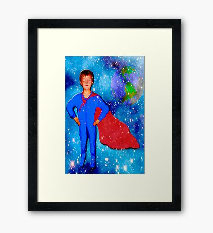 Neighborhood Hero Framed Print
