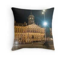 Amsterdam The Netherlands Palace on the Dam. Throw Pillow