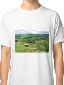 South from the Summit of Back Tor Classic T-Shirt