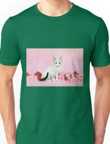Kodiak on Carnations Unisex T-Shirt