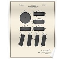 Hockey Puck Patent - Colour Poster