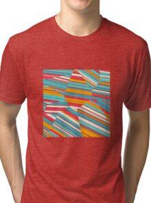 Coral Reef - Voronoi Stripes Tri-blend T-Shirt