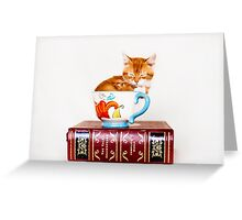 Teacup Kitten Greeting Card