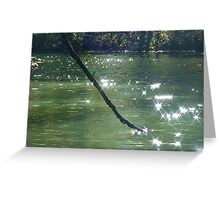 diamonds in the water Greeting Card