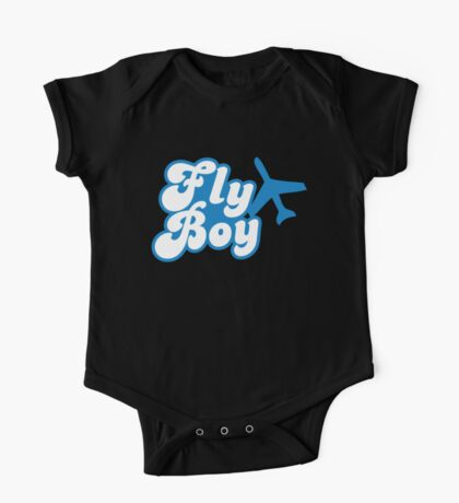 Fly Boy with jet plane One Piece - Short Sleeve