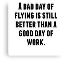 A Bad Day Of Flying Canvas Print