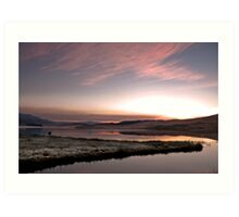 Frosty Drakensberg sunrise Art Print