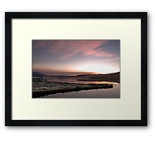 Frosty Drakensberg sunrise Framed Print