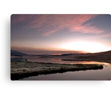 Frosty Drakensberg sunrise Canvas Print