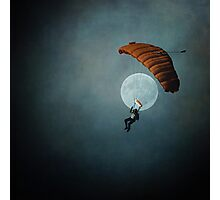 Skydiver's Moon Photographic Print