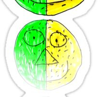 The Green and Yellow one Sticker
