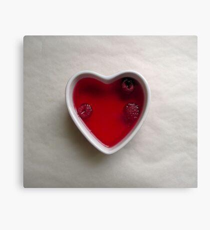 jello heart Canvas Print