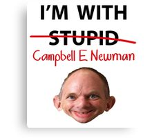 Cambell E Newman T-Shirt parody Canvas Print