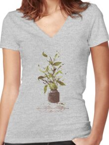 A Writer's Ink Women's Fitted V-Neck T-Shirt
