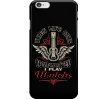 When Life Gets Complicated I Play Ukulele iPhone Case/Skin