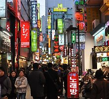 Even At Night, Myeondong is Crowded (Seoul, Korea) by Christian Eccleston