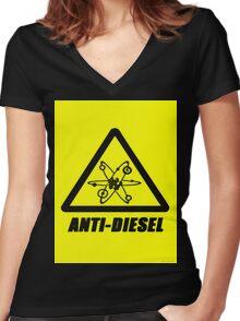 Anti-Diesel Women's Fitted V-Neck T-Shirt