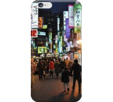 Myeongdong Market at Night iPhone Case/Skin