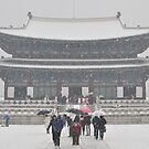 Gambukgong (palace) Frozen in a Blizzard by Christian Eccleston