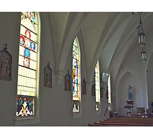 Inside the Small Town Catholic Church Photographic Print
