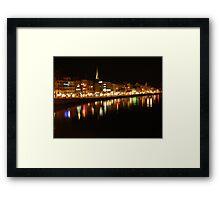 City Lights on the Water, Zurich Switzerland Framed Print