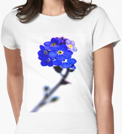 forget me not Womens Fitted T-Shirt