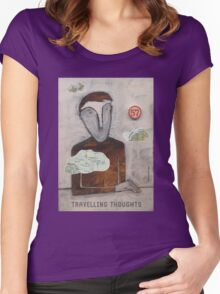 Travelling Thoughts Women's Fitted Scoop T-Shirt
