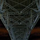 Under The Granville Bridge Girders by Tom  Reynen