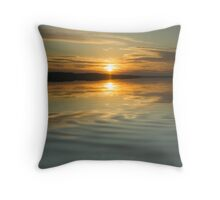 Sunset Ripple Throw Pillow