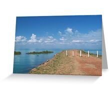 Town Beach, Old Jetty Greeting Card