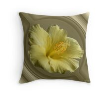 Hibiscus in port hole Throw Pillow