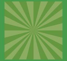 Light green rays One Piece - Short Sleeve