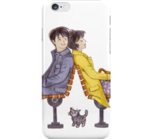 Boy, Girl, and Cat iPhone Case/Skin